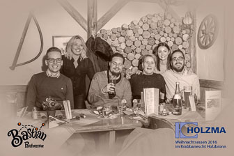 Weihnachtsessen 2016, Firma Holzma, Krabbanescht, Holzbronn bei Stuttgart