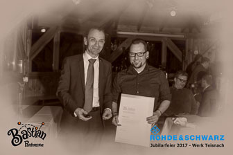 Rohde & Schwarz Jubilarfeier 2017 in Geiersthal in Bayern